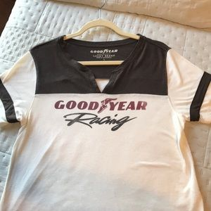 Lucky Brand Good Year Racing Tshirt size lg